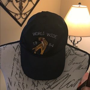 Satin black baseball cap